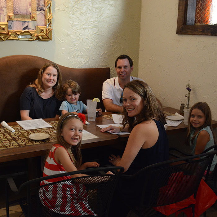 Familiea are always welcomed at our restaurant! We love watching parents, kids, uncles, aunts and grandparents all having a great time.